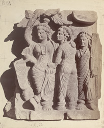 Sculpture fragment from the upper monastery at Nutta, Peshawar District